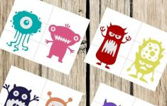 Pre K Monster Printable Puzzles For Preschool Or Toddler Busy | Etsy   K Print Puzzle
