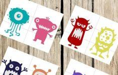 Pre K Monster Printable Puzzles For Preschool Or Toddler Busy | Etsy   Printable Puzzle Toddler