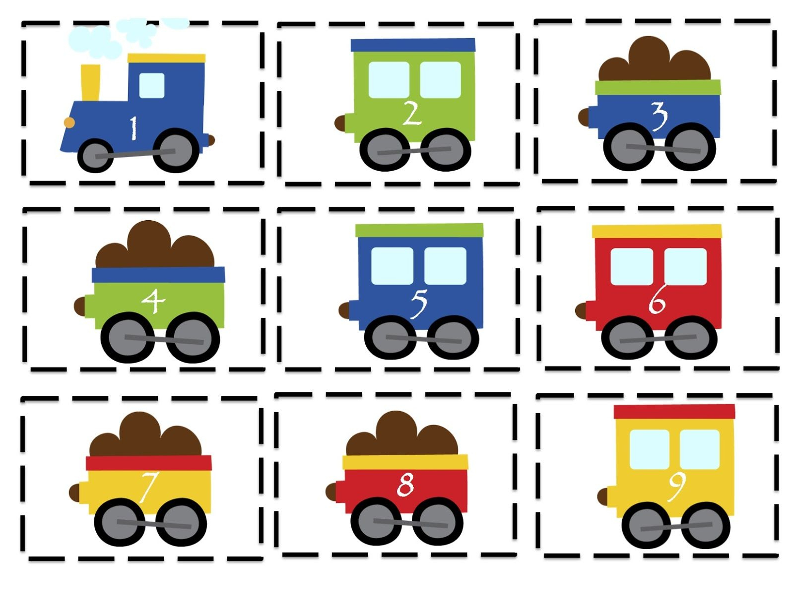 Preschool Printables: Trains, Planes And Automobiles Printable - Printable Train Puzzle