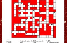 Print And Solve This Fun Christmas Crossword Puzzle For Kids! Puzzle   Christmas Crossword Puzzle Printable