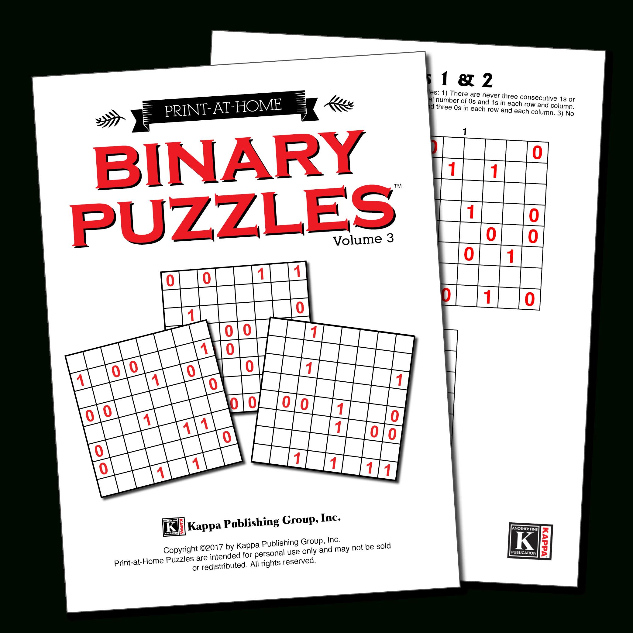 Print-At-Home Binary Puzzles – Kappa Puzzles - K Print Puzzle
