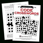 Print At Home Code Crosswords – Kappa Puzzles   Printable Variety Puzzles