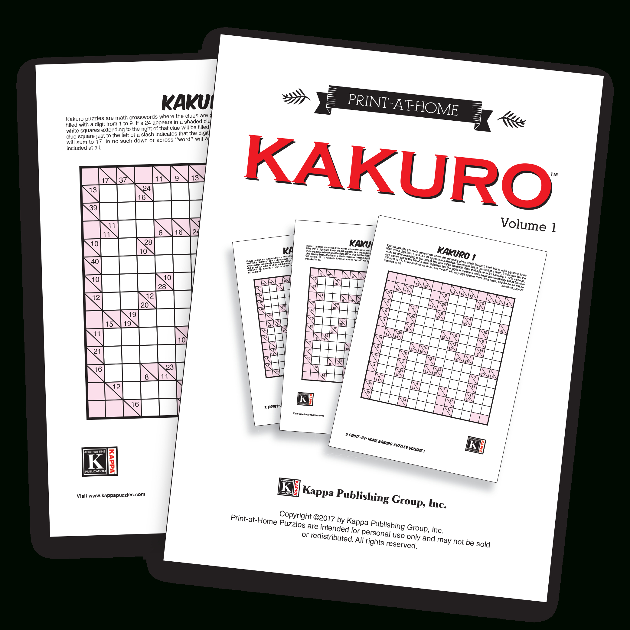 Print-At-Home Kakuro – Kappa Puzzles - Printable Puzzles Kakuro