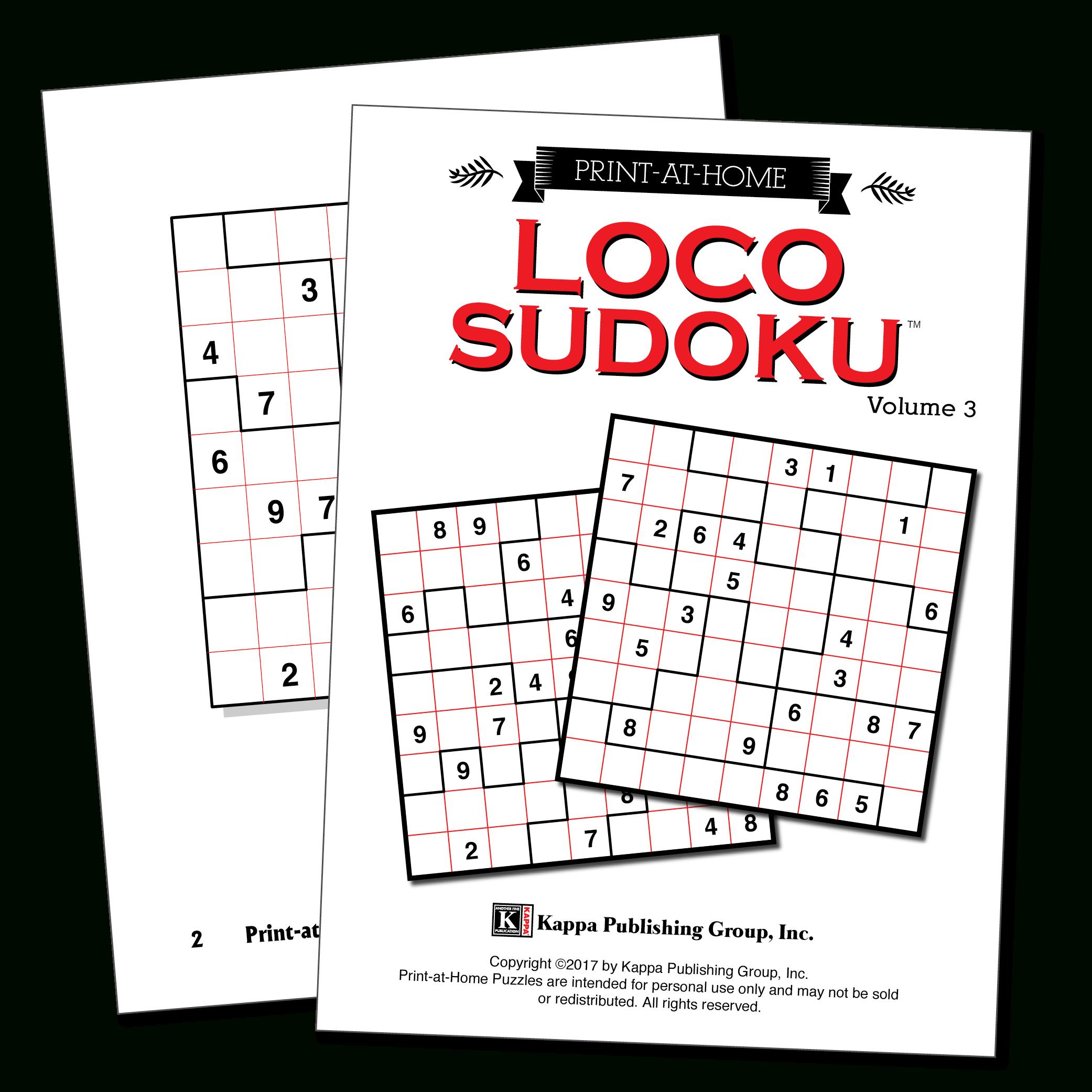 Print-At-Home Loco Sudoku – Kappa Puzzles - Printable Puzzle Packets
