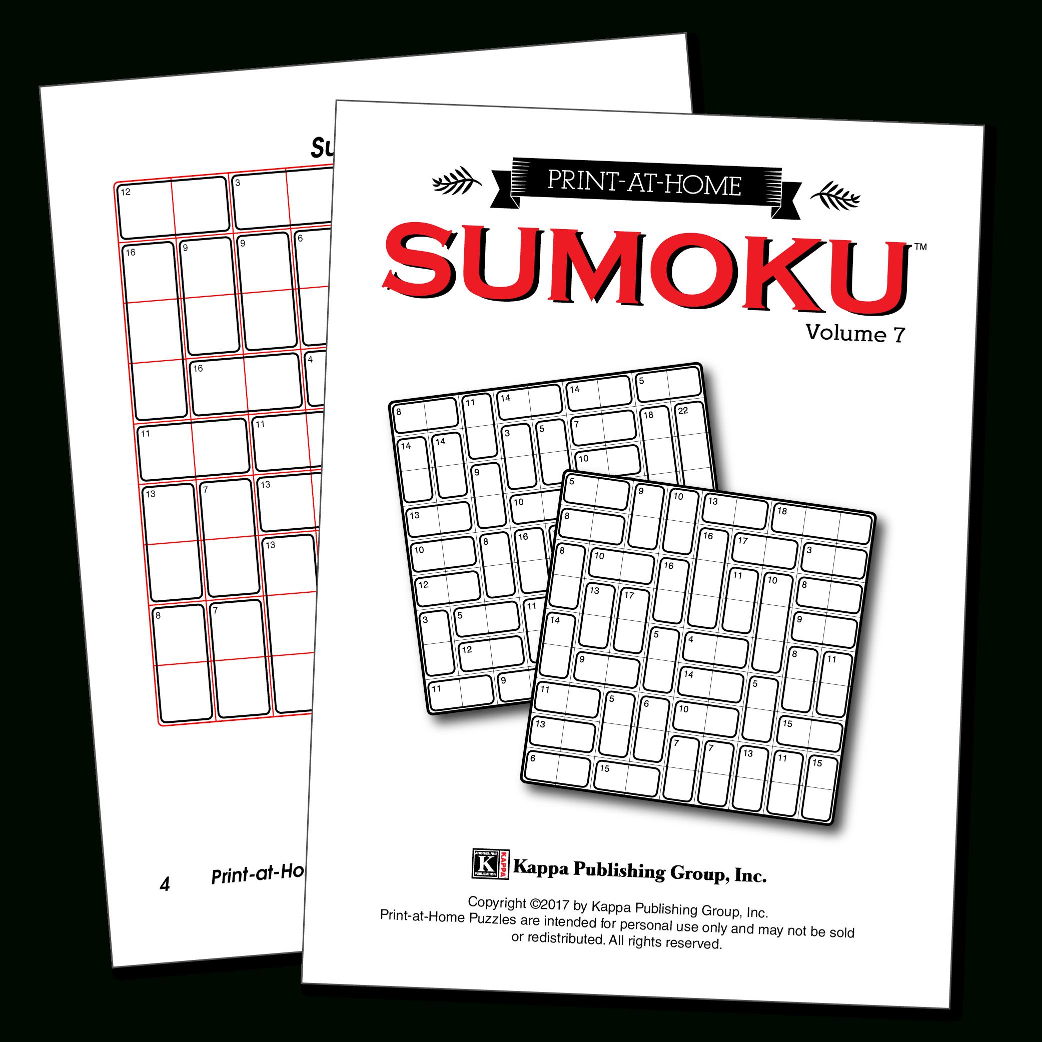 Print-At-Home Sumoku – Kappa Puzzles - Printable Sumoku Puzzles
