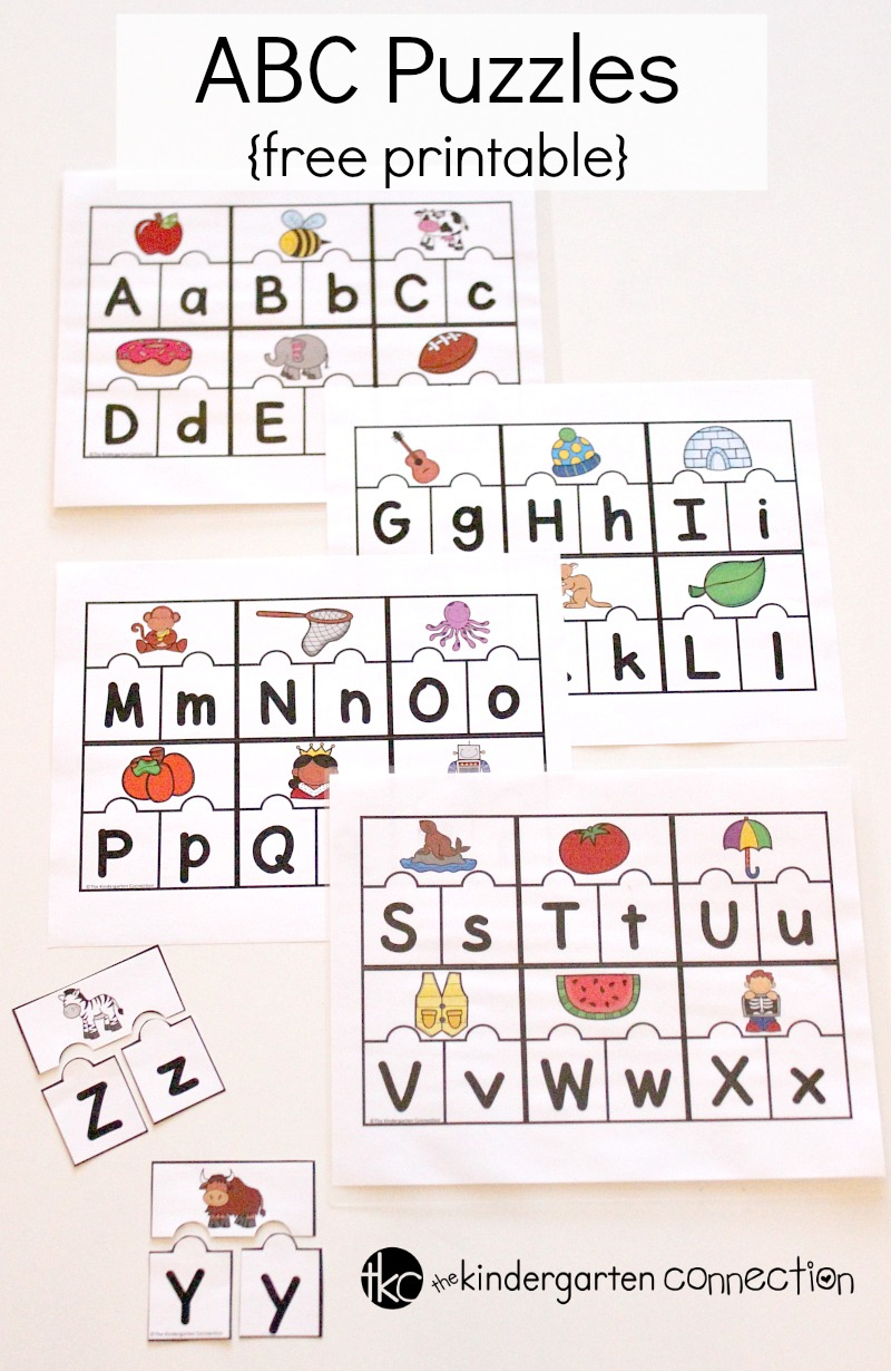 Printable Abc Puzzles For Pre-K And Kindergarten - Printable Puzzles For Kindergarten