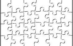 Printable Blank Puzzle Piece Template | School | Art Classroom   Printable Blank Puzzles