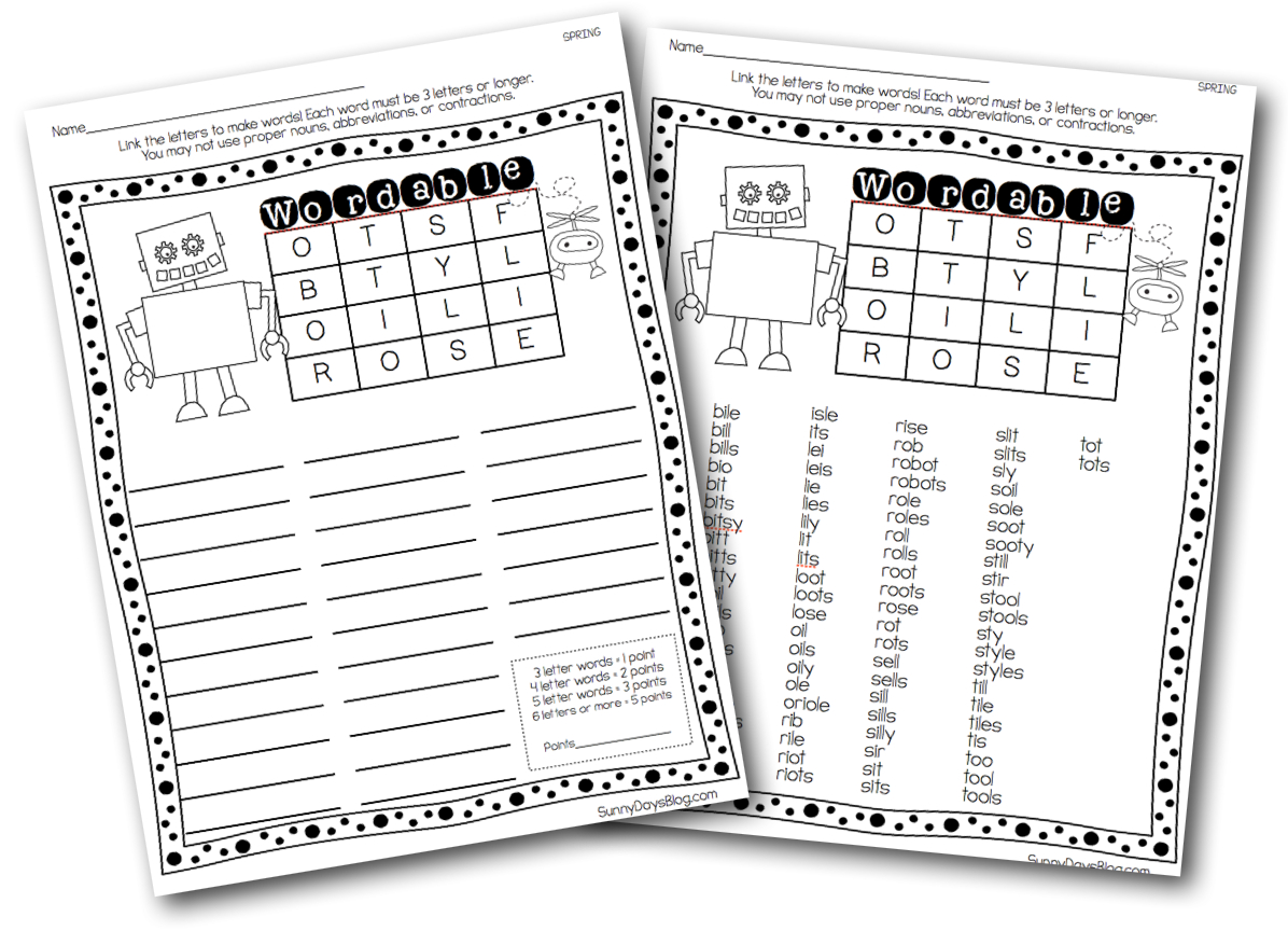 Printable Boggle-Style Word Puzzles | School Stuff | Boggle - Printable Boggle Puzzle