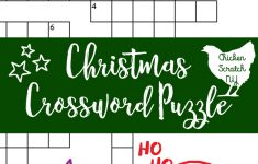 Printable Christmas Crossword Puzzle With Key   Christmas Crossword Puzzle Printable