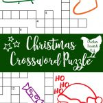 Printable Christmas Crossword Puzzle With Key   Printable Crossword Puzzles Christmas