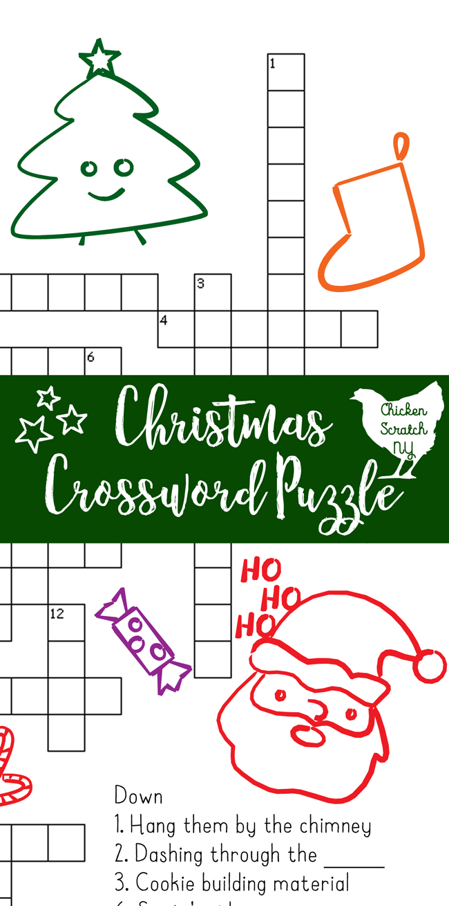 Printable Christmas Crossword Puzzle With Key - Printable Crossword Puzzles Christmas