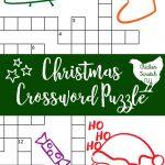 Printable Christmas Crossword Puzzle With Key   Printable Santa Puzzle