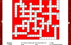 Printable Christmas Puzzles For Kids | Squigly's Playhouse   Printable Red Eye Crossword Puzzle