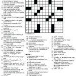 Printable Crossowrd Puzzles Chemistry Tribute Crossword Puzzle Chem   La Times Printable Crossword Puzzles 2018