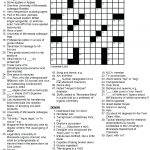 Printable Crossowrd Puzzles Chemistry Tribute Crossword Puzzle Chem   Printable Crossword Puzzles March 2018