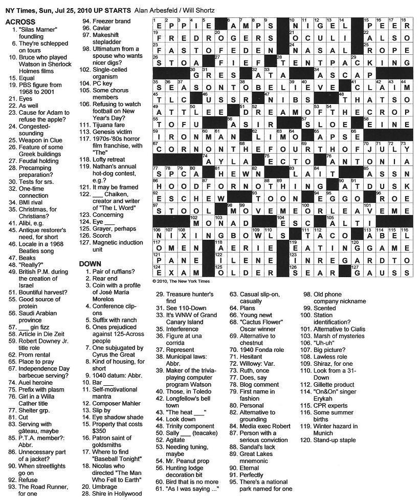 Printable Crossword Dictionary ÀŽfire Sign〠- Printable Crossword New York Times