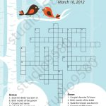 Printable Crossword Puzzle Bridal Shower Game | Bridal Shower   Free Printable Bridal Shower Crossword Puzzle