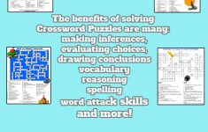 Printable Crossword Puzzles For Kids   My Classroom   Printable   Printable Variety Puzzles