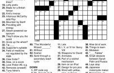 Printable Crossword Puzzles | Free Printable Crossword Puzzles For   Printable Crossword 2018