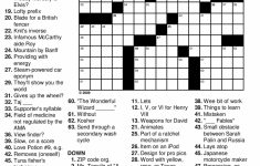 Printable Crossword Puzzles | Free Printable Crossword Puzzles For – Printable Crosswords For Young Adults