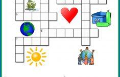 Printable Crossword Puzzles Kids   Crossword Puzzles On Earth   Recycling Crossword Puzzle Printable