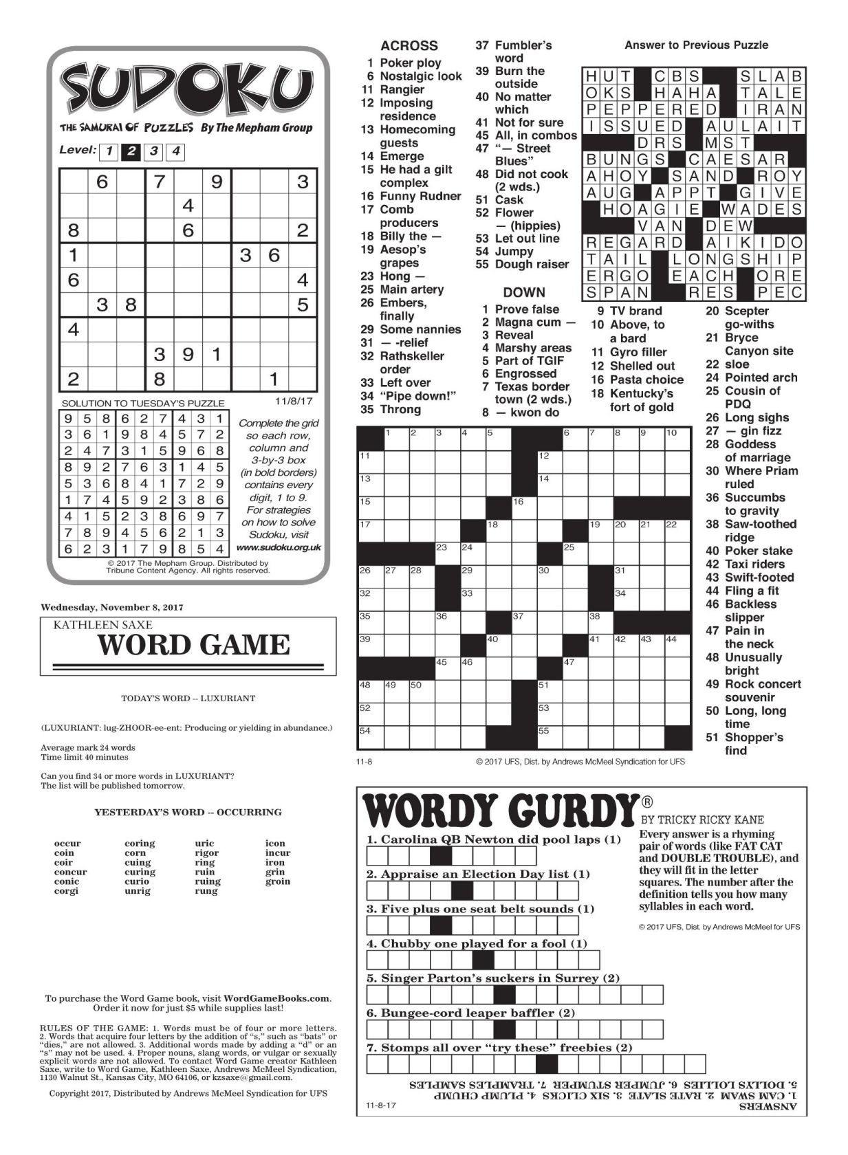 Printable Crossword Puzzles La Times Crossword Puzzle La Times - La Times Printable Crossword Puzzles November 2017