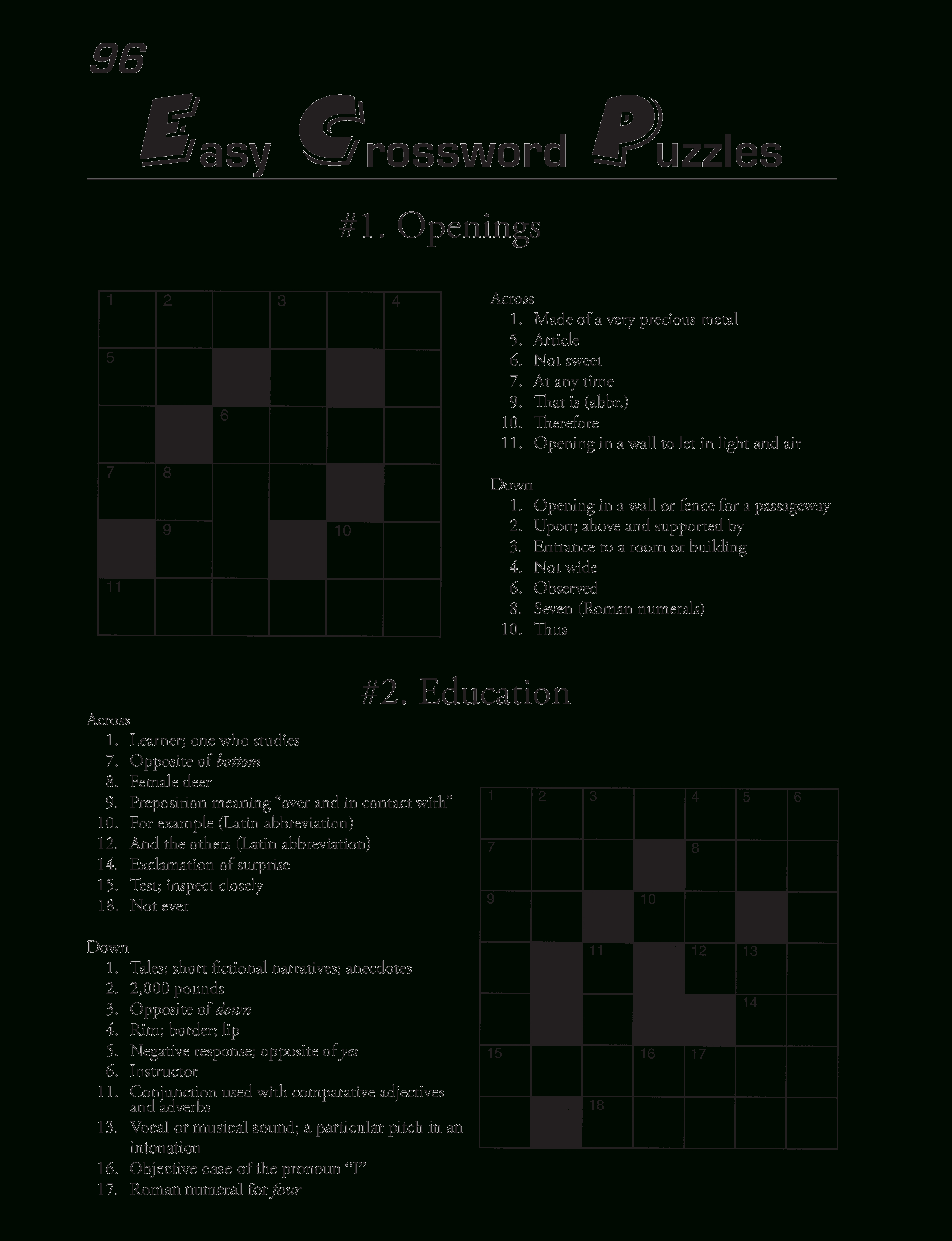 Printable Crossword Puzzles Template | Templates At - Download Printable Crossword Puzzles