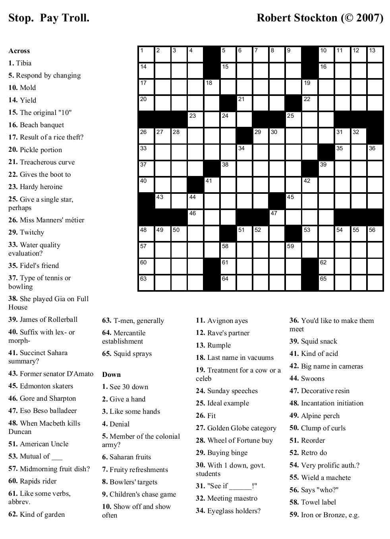 Printable Crosswords About Friendship Trials Ireland - Printable Crossword Puzzles Science