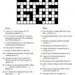 Printable Crosswords | Commoner Crosswords   Printable Crossword With Solutions