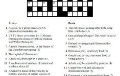 Printable Crosswords | Commoner Crosswords   Printable Quick Crossword