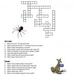 Printable Crosswords Puzzles Kids | Activity Shelter   Animal Crossword Puzzle Printable