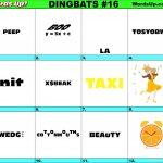 Printable Dingbats #16   Rebus Puzzles   Rebuses   Rebus Puzzles   Printable Dingbat Puzzles