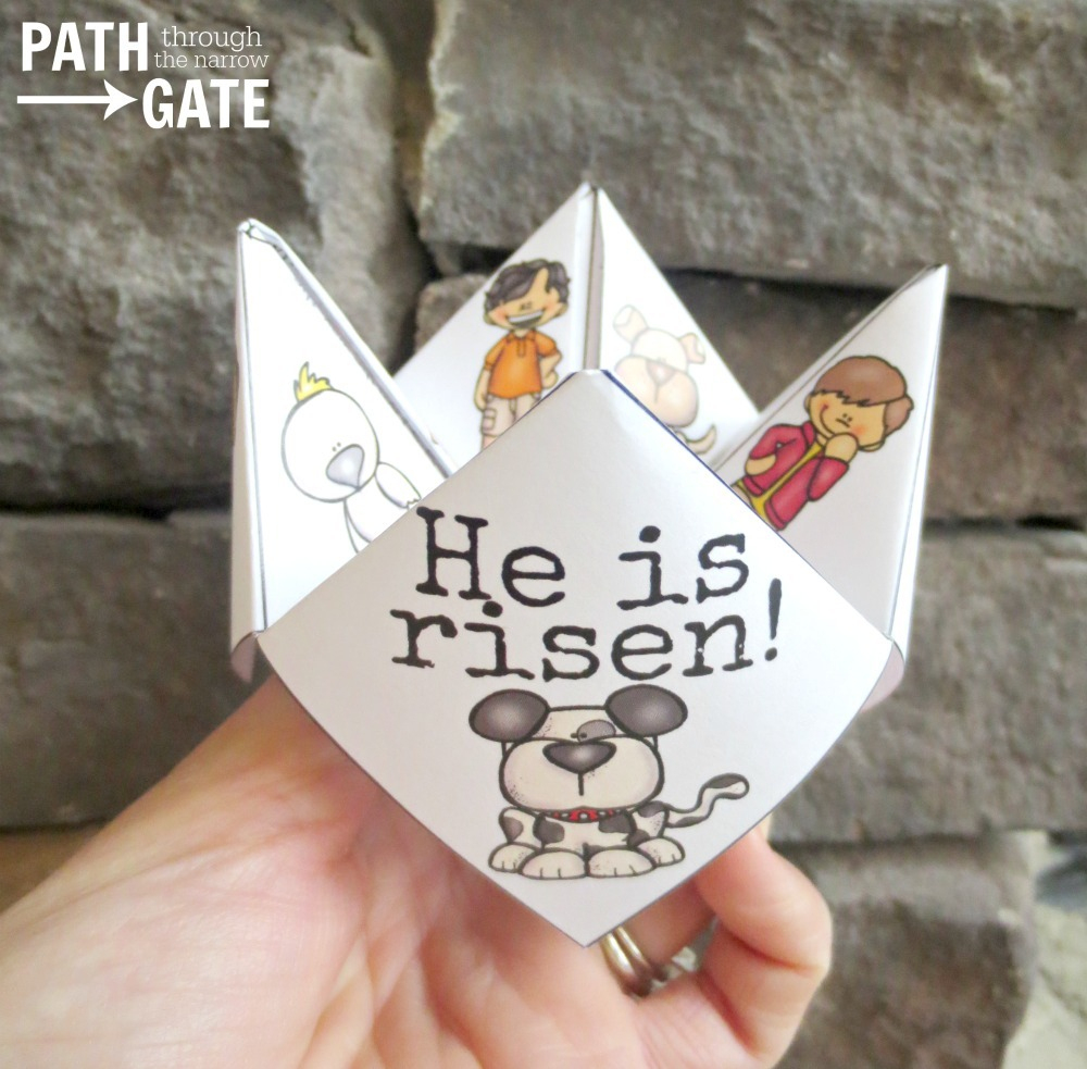 Printable Easter Finger Puzzle With Bible Verses - Perfect For Home - Printable Finger Puzzle