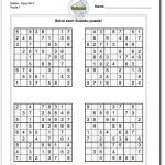 Printable Easy Sudoku | Math Worksheets | Sudoku Puzzles, Maths   Printable Puzzles By Krazydad