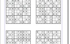 Printable Easy Sudoku   Math Worksheets   Sudoku Puzzles, Maths   Printable Sudoku Puzzles 8 Per Page