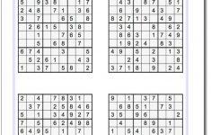 Printable Easy Sudoku | Math Worksheets | Sudoku Puzzles, Maths   Printable Sudoku Puzzles For 5Th Grade