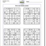 Printable Evil Sudoku Puzzles | Math Worksheets | Sudoku Puzzles   5 Star Sudoku Puzzles Printable