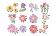 Printable Flower Stickers | Free Printable Papercraft Templates   Printable Flower Puzzle