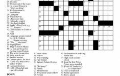 Printable Free Crosswords & Free Printable Crossword Puzzles Sc 1   Printable Crossword April