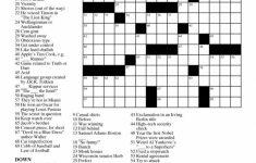 Printable Free Crosswords & Free Printable Crossword Puzzles Sc 1   The Daily Printable Crossword Puzzles