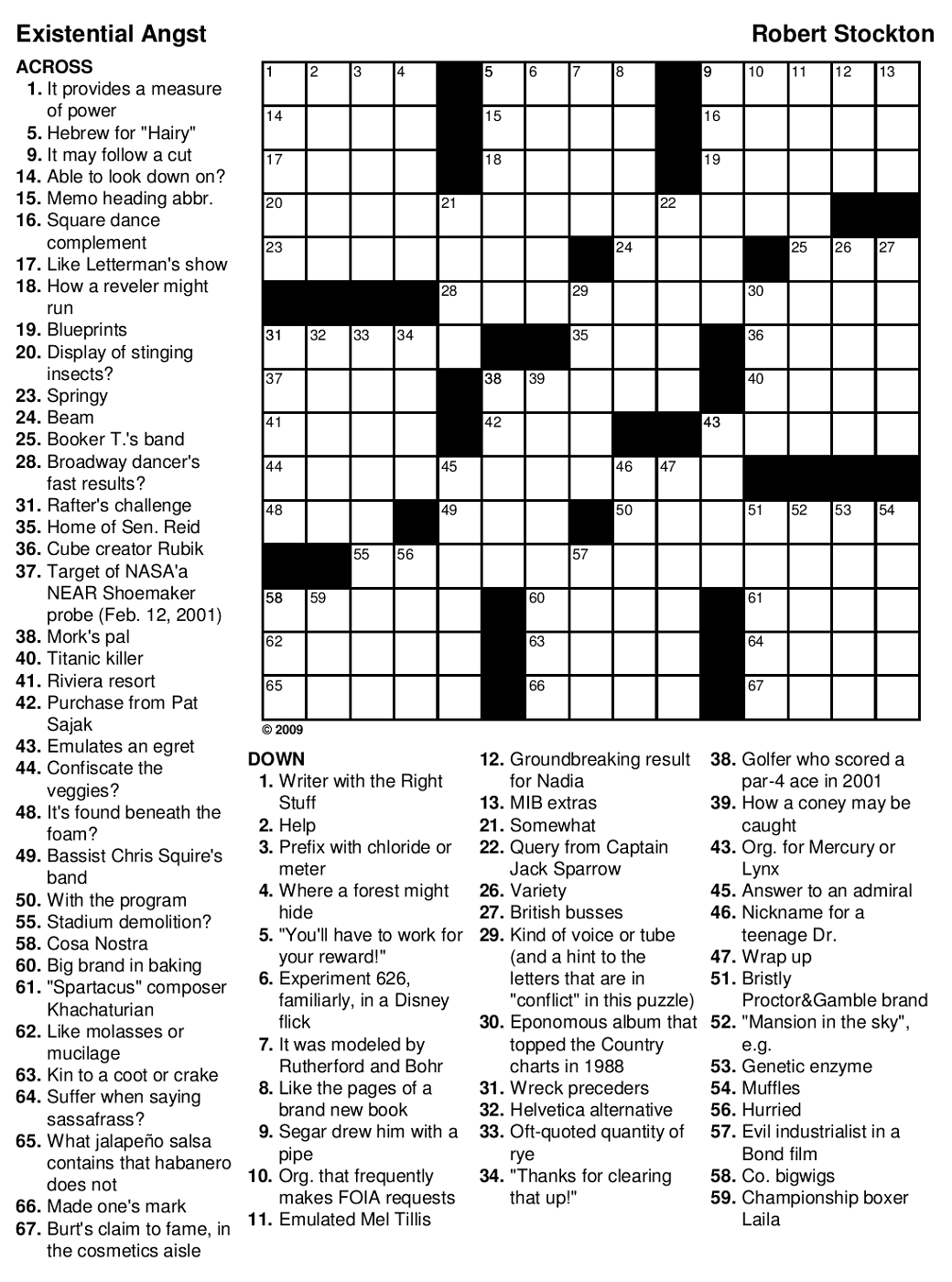 Printable Games For Adults | Mental State | Printable Crossword - Printable Crossword Hard