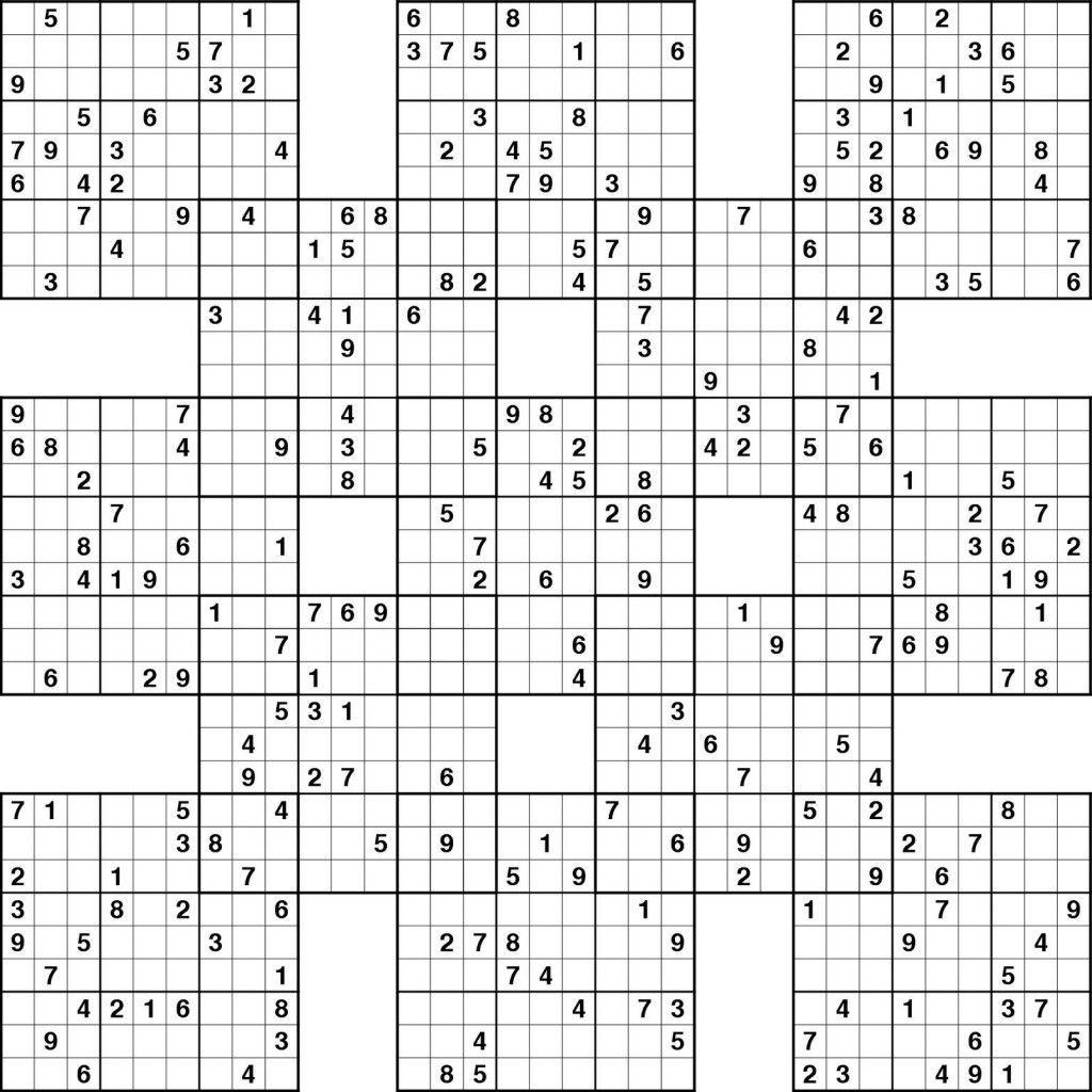 Printable Giant Sudoku Puzzles | Printable Sudoku Free - Printable Giant Puzzle