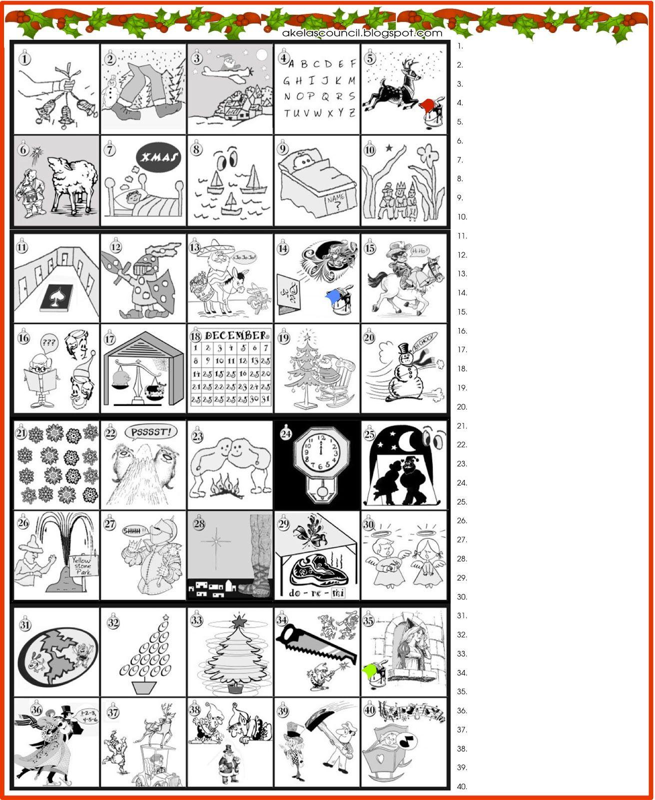 Printable * Guess The Christmas Songs Or Carols Word Puzzle - Free - Printable Free Puzzle Games