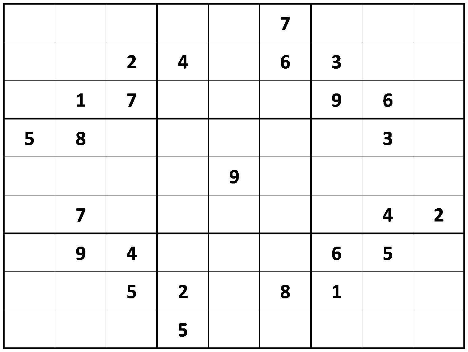 Printable Hard Sudoku | Printable - Difficult Sudoku Puzzles - Printable Puzzle Sudoku