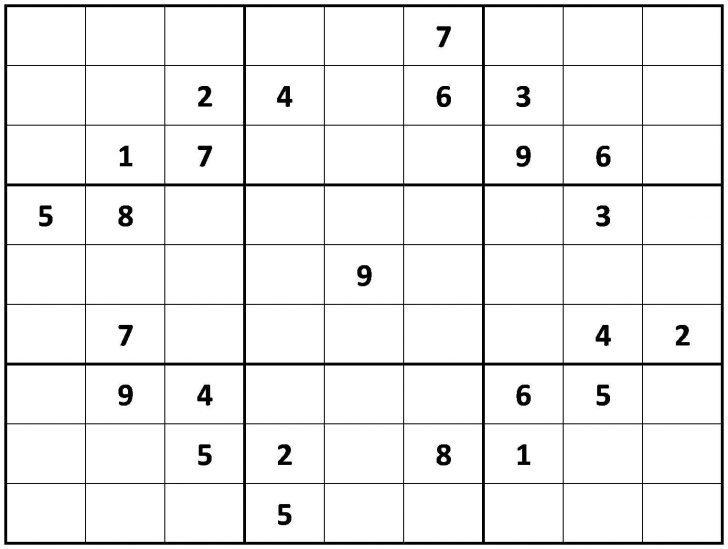 Printable Sudoku Puzzles Very Hard