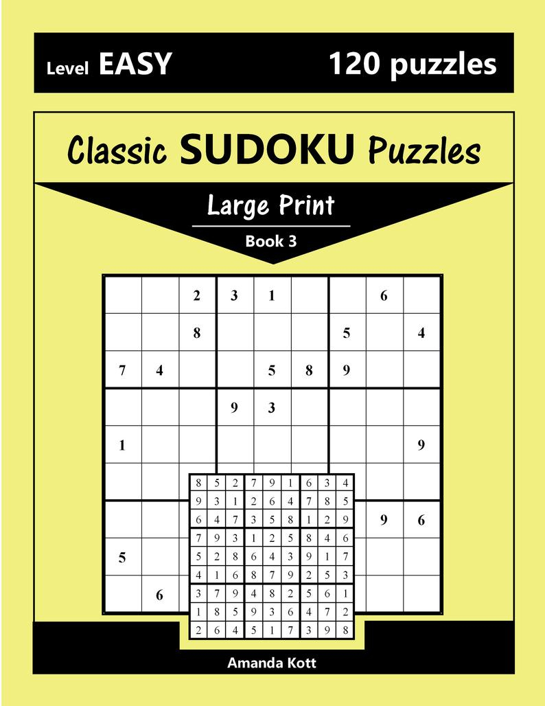 Printable Large Print Classic Sudoku Puzzles 120 Puzzles | Etsy - Printable Sudoku Puzzles Uk