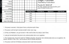 Printable Logic Puzzle – Myheartbeats.club   Printable Logic Puzzles For Middle School