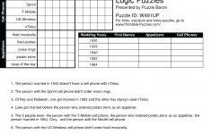 Printable Logic Puzzle – Myheartbeats.club   Printable Logic Puzzles Puzzle Baron