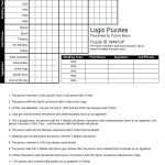 Printable Logic Puzzle – Myheartbeats.club   Printable Puzzle Baron