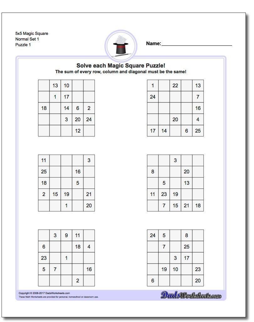 Printable Logic Puzzles The Printable Logic Puzzles On This Page Are - Printable Square Puzzle
